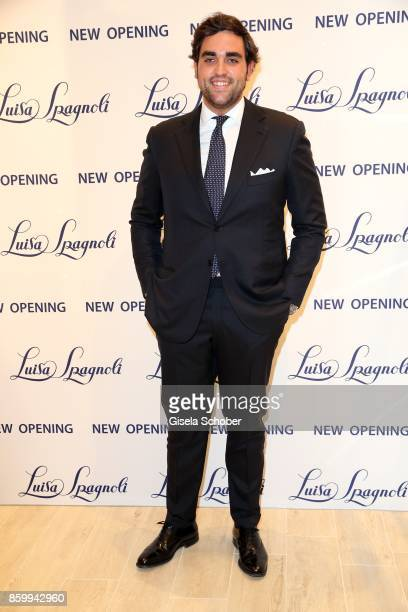 Nicola Spangnoli son of Nicoletta Spagnoli during the Luisa Spagnoli boutique opening Munich at Preysing Palais on October 10 2017 in Munich Germany