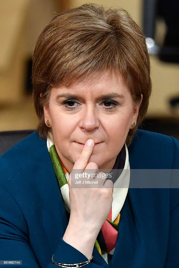 Nicola Sturgeon, First Minister of Scotland, attends the debate to keep Scotland in the European single market at the Scottish Parliament on January 17, 2016 Edinburgh, United Kingdom The prime minister spoke to Nicola Sturgeon ahead of a speech confirming that the UK will leave the EU, the SNP leader has repeatedly raised the possibility of a second independence referendum if Scotlands membership of the single market is threatened by a so called hard Brexit.