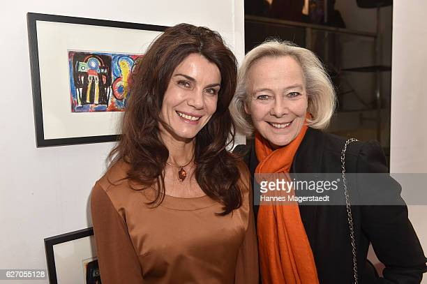 Nicola Tiggeler and Prinzessin Uschi zu Hohenlohe during the 'Bachmayer Hitzler Rieger' Exhibition Opening at Susanne Wiebe's fashion store In Munich...