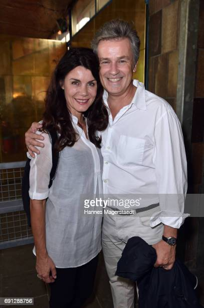 Nicola Tiggeler and Timothy Peach during Konstantin Wecker 70th birthday at Circus Krone on June 1 2017 in Munich Germany
