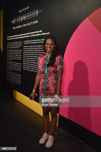 Nicola Vassell attends BACARDI Swizz Beatz and The Dean Collection bring NO COMMISSION back to Miami to celebrate 'Island Might' at Soho Studios on...