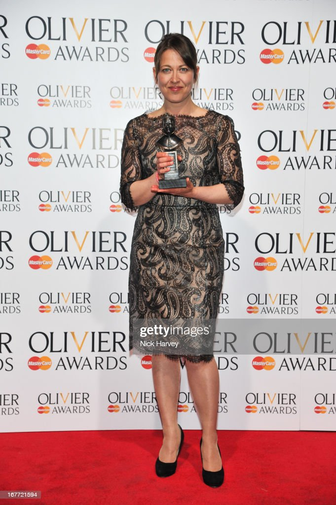 Nicola Walker poses with her award at The Laurence Olivier Awards at The Royal Opera House on April 28, 2013 in London, England.