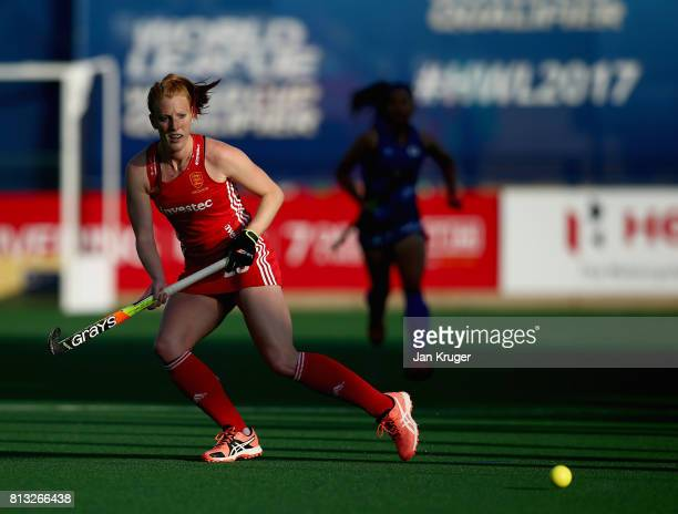 Nicola White of England in action during day 3 of the FIH Hockey World League Semi Finals Pool A match between Japan and England at Wits University...