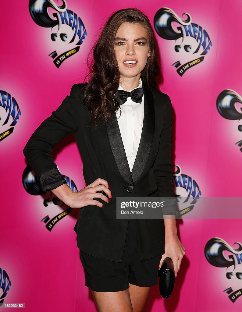 Nicola Willow arrives at the Sydney Premiere of GREASE at The Star on October 17, 2013 in Sydney, Australia.