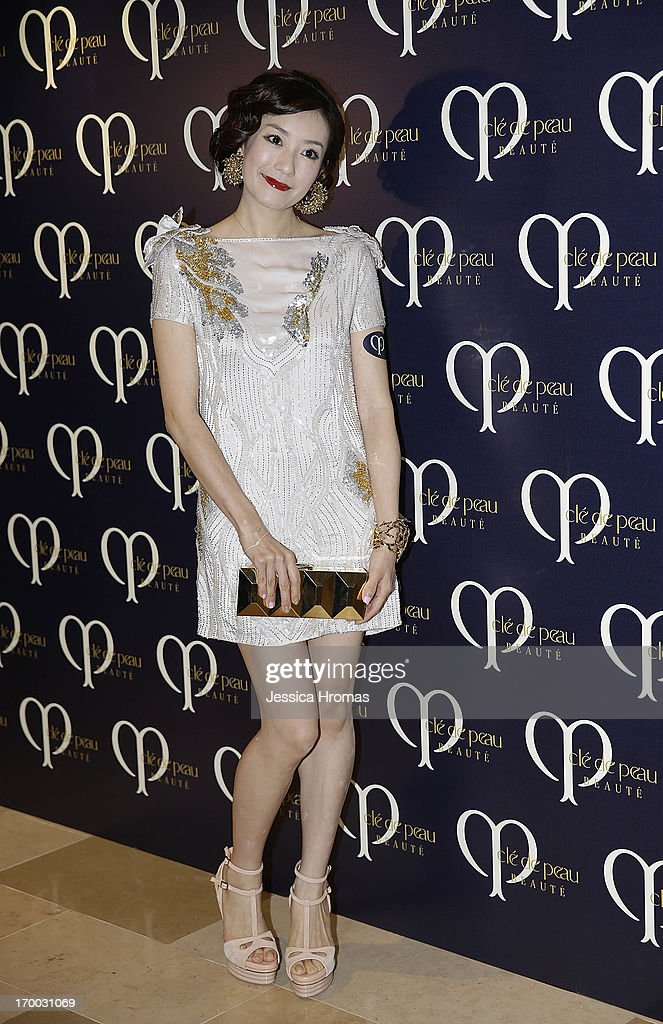 Nicola Young attends the Shiseido 'Cle De Peau Beaute' gala dinner at ArtisTree on June 6, 2013 in Hong Kong, Hong Kong.