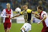 Nicolai Boilesen of Ajax Uros Djurdjevic of Vitesse Niklas Moisander of Ajax during the Dutch Eredivisie match between Vitesse and Ajax at the...