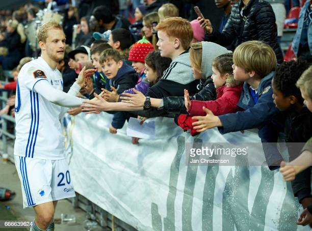 Nicolai Boilesen of FC Copenhagen and fans after the Danish Alka Superliga match between FC Copenhagen and FC Nordsjalland at Telia Parken Stadium on...