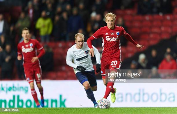 Nicolai Boilesen of FC Copenhagen controls the ball during the Danish Cup DBU Pokalen match match between B93 and FC Copenhagen at Telia Parken...