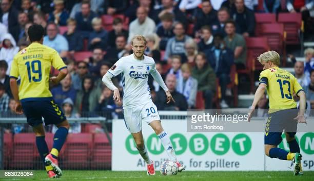 Nicolai Boilesen of FC Copenhagen controls the ball during the Danish Alka Superliga match between FC Copenhagen and Brondby IF at Telia Parken...