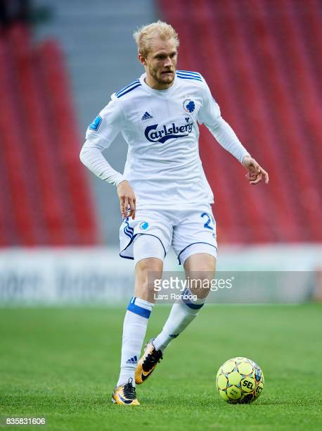 Nicolai Boilesen of FC Copenhagen controls the ball during the Danish Alka Superliga match between FC Copenhagen and Sonderjyske at Telia Parken...