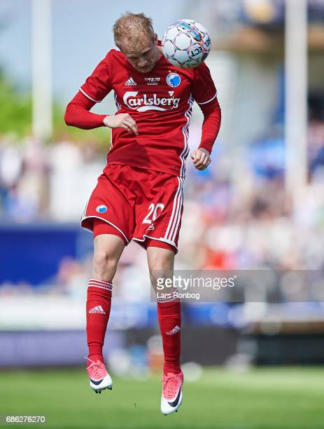 Nicolai Boilesen of FC Copenhagen in action during the Danish Alka Superliga match between Lyngby BK and FC Copenhagen at Lyngby Stadion on May 21...
