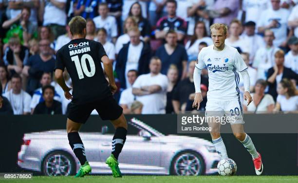 Nicolai Boilesen of FC Copenhagen in action during the Danish Alka Superliga match between FC Copenhagen and Sonderjyske at Telia Parken Stadium on...