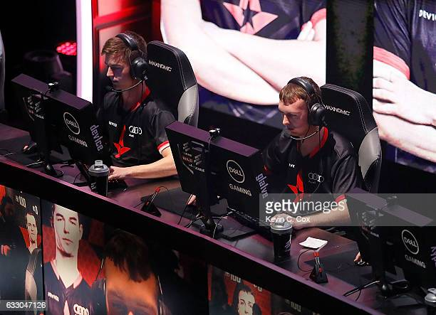 Nicolai 'dev1ce' Reedtz and Lukas 'gla1ve' Rossander of Astralis compete during the ELEAGUE CounterStrike Global Offensive Major Championship finals...