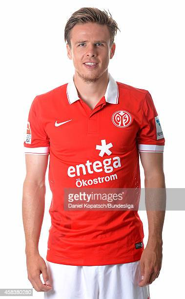 Nicolai Mueller poses during the DFL Media Day of 1 FSV Mainz 05 at Coface Arena on July 18 2014 in Mainz Germany