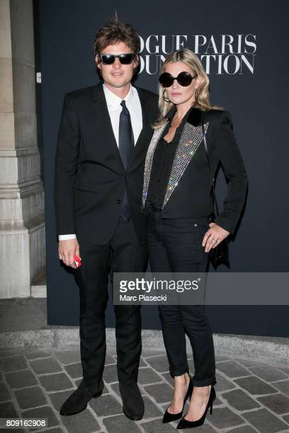 Nicolai Von Bismarck and supermodel Kate Moss attend Vogue Foundation Dinner during Paris Fashion Week as part of Haute Couture Fall/Winter 20172018...