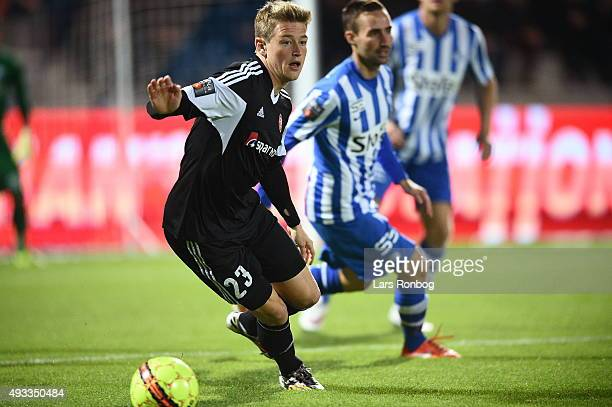 Nicolaj Thomsen of AaB Aalborg controls the ball during the Danish Alka Superliga match between Esbjerg fB and AaB Aalborg at Blue Water Arena on...