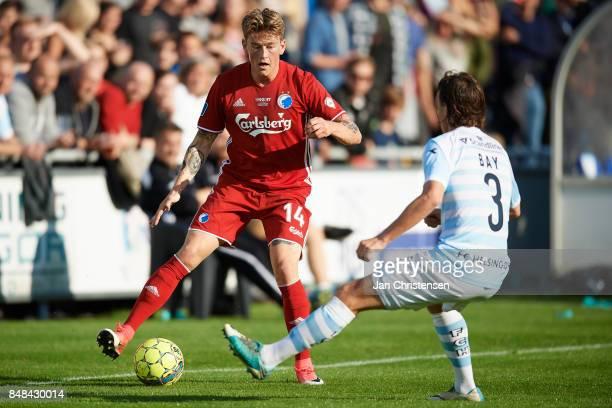 Nicolaj Thomsen of FC Copenhagen in action during the Danish Alka Superliga match between FC Helsingor and FC Copenhagen at Helsingor Stadion on...