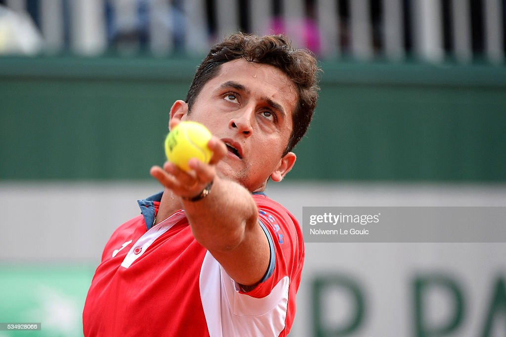 Nicolas Almagro during the Men's Singles third round on day seven of the French Open 2016 on May 28, 2016 in Paris, France.