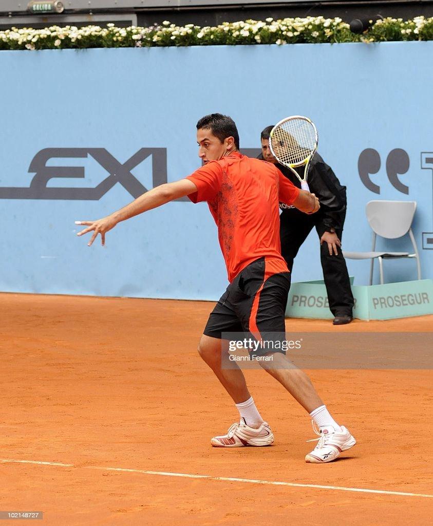 Nicolas Almagro, ESP, in 'Mutua Madrilena Madrid Open' of tennis, 8th May 2010, in 'La Caja Magica'. Madrid, Spain.