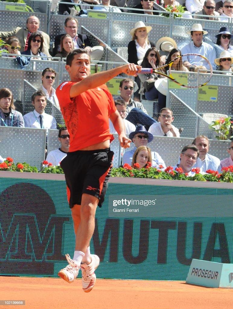 Nicolas Almagro, ESP, tennis in 'Mutua Madrilena Madrid Open' , 8th May 2010, in 'La Caja Magica'. Madrid, Spain.