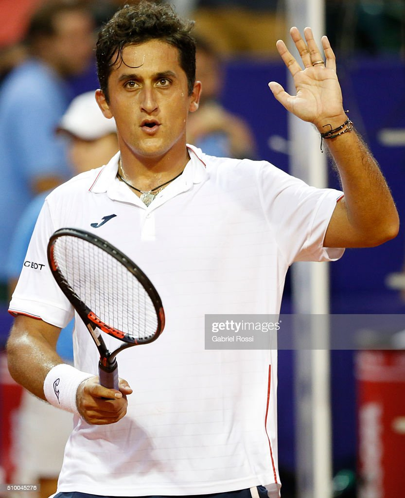 <a gi-track='captionPersonalityLinkClicked' href=/galleries/search?phrase=Nicolas+Almagro&family=editorial&specificpeople=553850 ng-click='$event.stopPropagation()'>Nicolas Almagro</a> of Spain celebrates after winning the match between <a gi-track='captionPersonalityLinkClicked' href=/galleries/search?phrase=Nicolas+Almagro&family=editorial&specificpeople=553850 ng-click='$event.stopPropagation()'>Nicolas Almagro</a> of Spain and David Ferrer of Spain as part of ATP Argentina Open at Buenos Aires Lawn Tennis Club on February 13, 2016 in Buenos Aires, Argentina.
