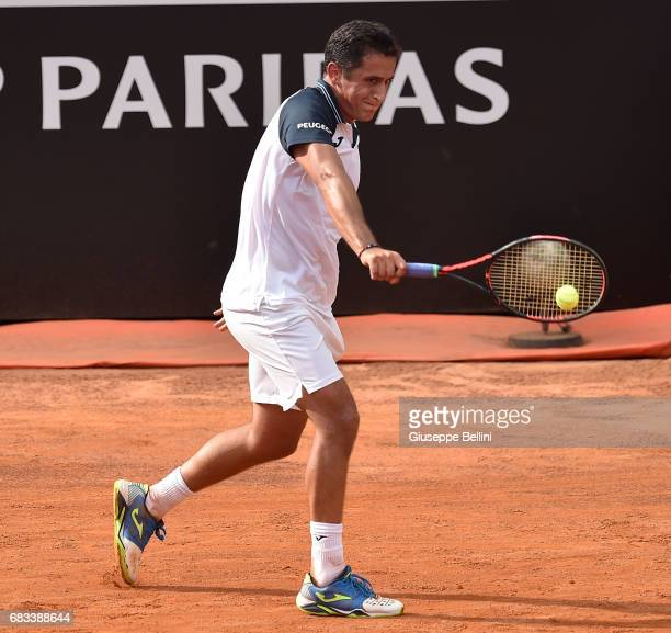 Nicolas Almagro of Spain in action during the match between Andrea Seppi of Italy and Nicolas Almagro of Spain during The Internazionali BNL d'Italia...