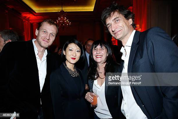 Nicolas Altmayer French minister of Culture Communication Fleur Pellerin Producer Sylvie Pialat and Eric Altmayer attend the 'Daniel Toscan du...