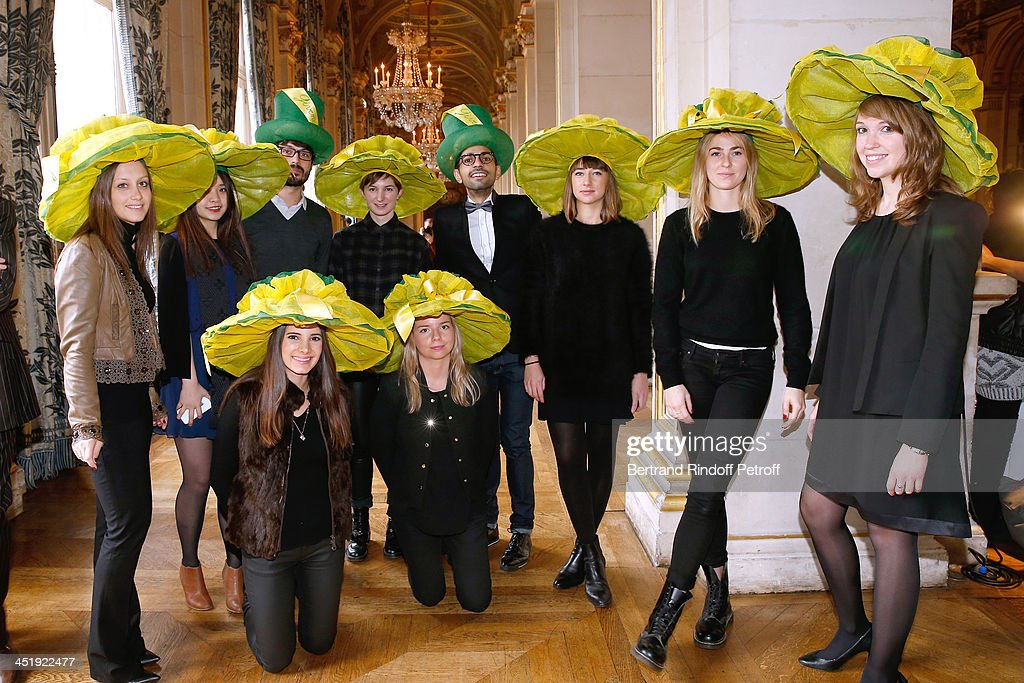 Nicolas and Catherinettes from Givenchy attend Sainte-Catherine Celebration at Mairie de Paris on November 25, 2013 in Paris, France.