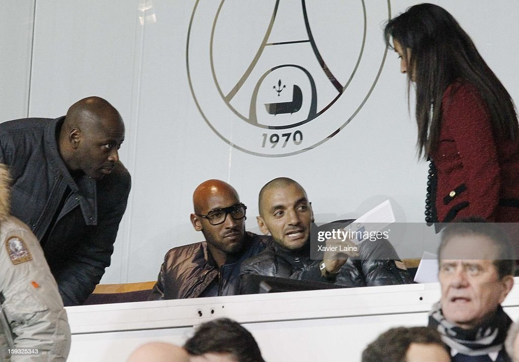 Nicolas Anelka attends the French Ligue 1 match between Paris Saint-Germain FC and Ajaccio AC at Parc des Princes on January 11, 2013 in Paris, France.