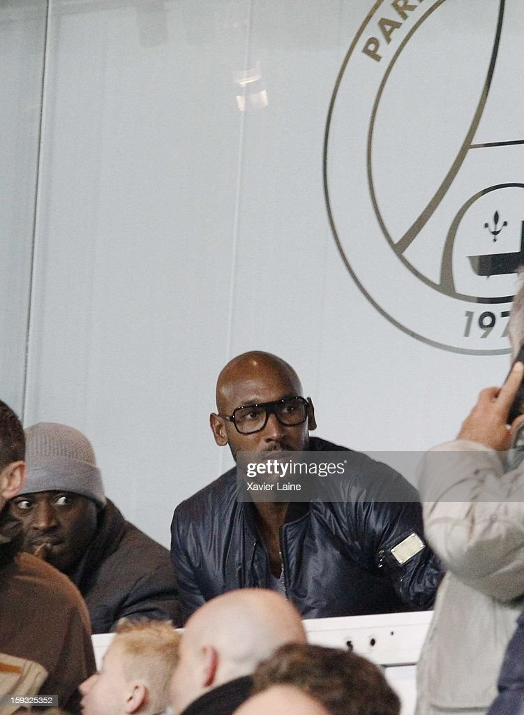 <a gi-track='captionPersonalityLinkClicked' href=/galleries/search?phrase=Nicolas+Anelka&family=editorial&specificpeople=206204 ng-click='$event.stopPropagation()'>Nicolas Anelka</a> attends the French Ligue 1 match between Paris Saint-Germain FC and Ajaccio AC at Parc des Princes on January 11, 2013 in Paris, France.