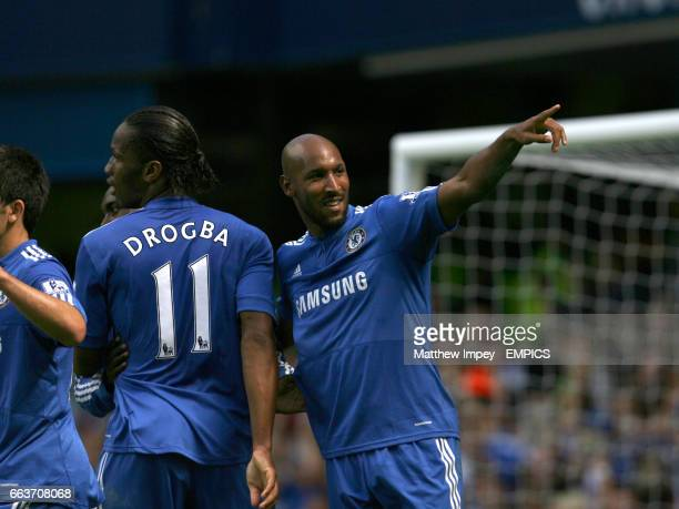 Nicolas Anelka celebrates scoring the 1st Chelsea goal