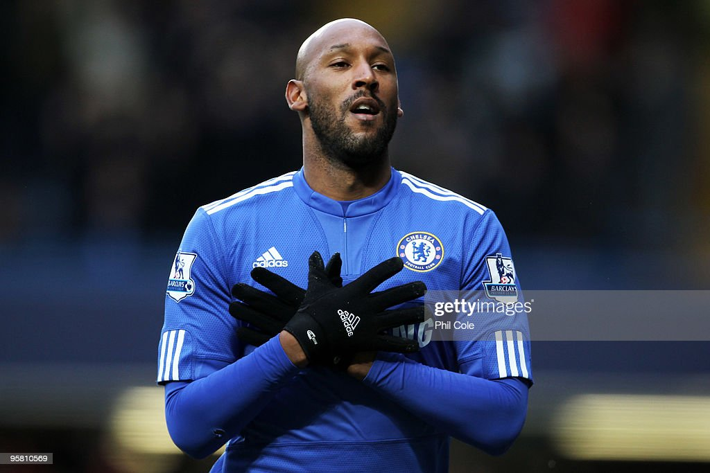 <a gi-track='captionPersonalityLinkClicked' href=/galleries/search?phrase=Nicolas+Anelka&family=editorial&specificpeople=206204 ng-click='$event.stopPropagation()'>Nicolas Anelka</a> of Chelsea celebrates after scoring the opening goal during the Barclays Premier League match between Chelsea and Sunderland at Stamford Bridge on January 16, 2010 in London, England.