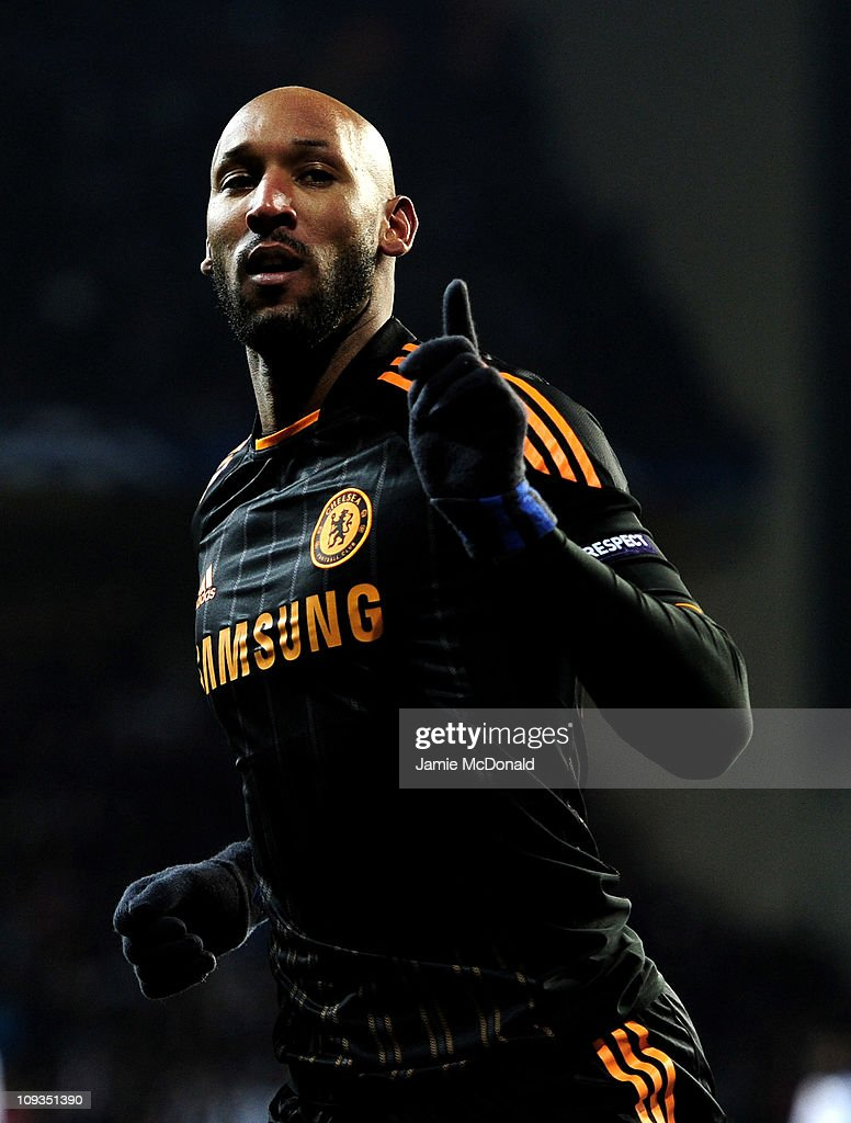 <a gi-track='captionPersonalityLinkClicked' href=/galleries/search?phrase=Nicolas+Anelka&family=editorial&specificpeople=206204 ng-click='$event.stopPropagation()'>Nicolas Anelka</a> of Chelsea celebrates scoring his team's second goal during the UEFA Champions League round of 16 first leg match between FC Copenhagen and Chelsea at Parken Stadium on February 22, 2011 in Copenhagen, Denmark.