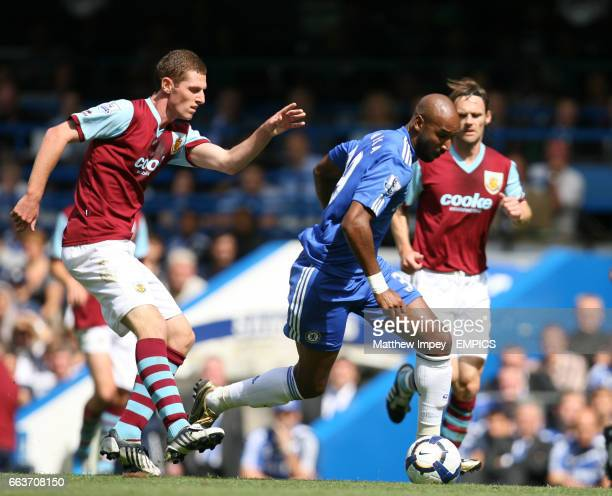 Nicolas Anelka of Chelsea gets away from Chris McCann of Burnley