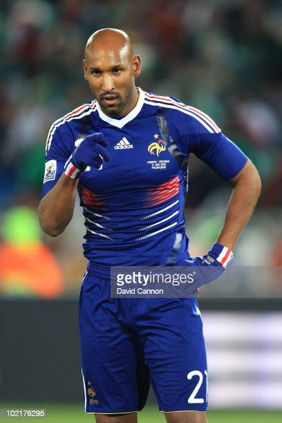 Nicolas Anelka of France gestures during the 2010 FIFA World Cup South Africa Group A match between France and Mexico at the Peter Mokaba Stadium on...