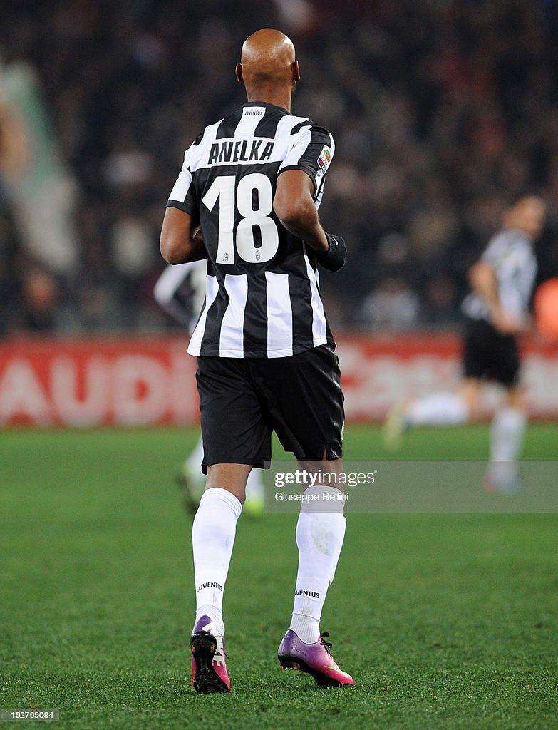 <a gi-track='captionPersonalityLinkClicked' href=/galleries/search?phrase=Nicolas+Anelka&family=editorial&specificpeople=206204 ng-click='$event.stopPropagation()'>Nicolas Anelka</a> of Juventus during the Serie A match between AS Roma and Juventus FC at Stadio Olimpico on February 16, 2013 in Rome, Italy.