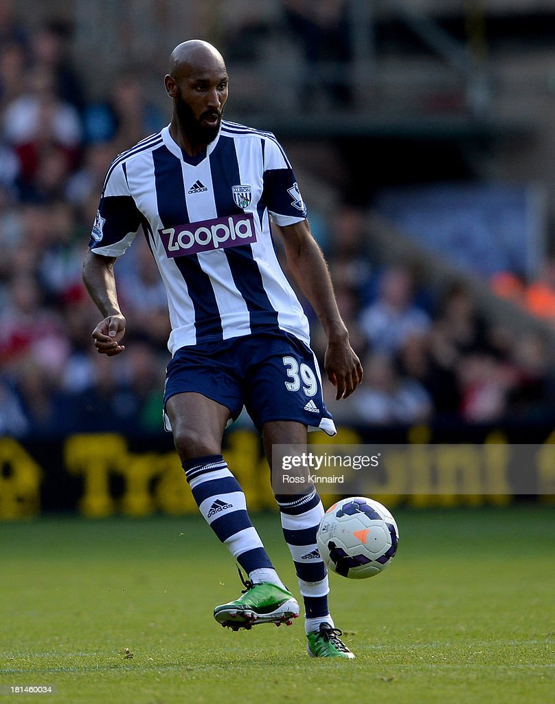 Nicolas Anelka of West Brom during the Barclays Premier League match between West Bromwich Albion and Sunderland at The Hawthorns on September 21, 2013 in West Bromwich, England.