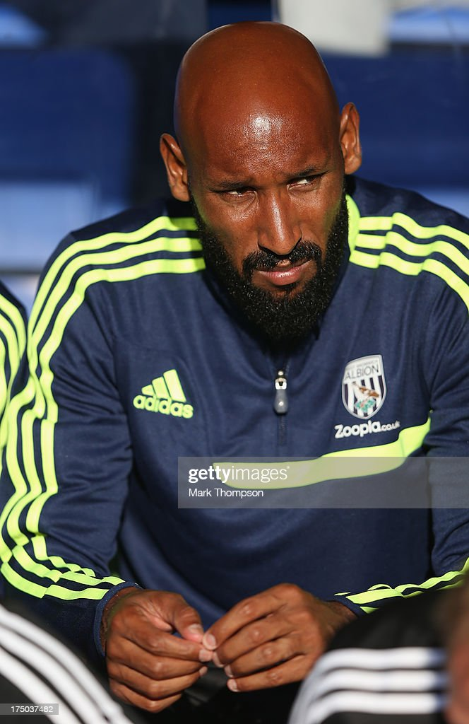 <a gi-track='captionPersonalityLinkClicked' href=/galleries/search?phrase=Nicolas+Anelka&family=editorial&specificpeople=206204 ng-click='$event.stopPropagation()'>Nicolas Anelka</a> of West Bromwich Albion in action during the pre-season friendly between West Bromwich Albion and Atromitosat Greenhous Meadow on July 29, 2013 in Shrewsbury, England.