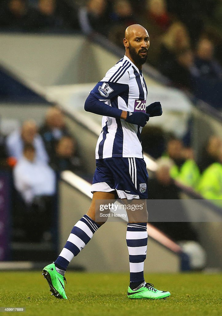 <a gi-track='captionPersonalityLinkClicked' href=/galleries/search?phrase=Nicolas+Anelka&family=editorial&specificpeople=206204 ng-click='$event.stopPropagation()'>Nicolas Anelka</a> of West Bromwich Albion looks on during the Barclays Premier League match between West Bromwich Albion and Newcastle United at The Hawthorns on January 1, 2014 in West Bromwich, England.