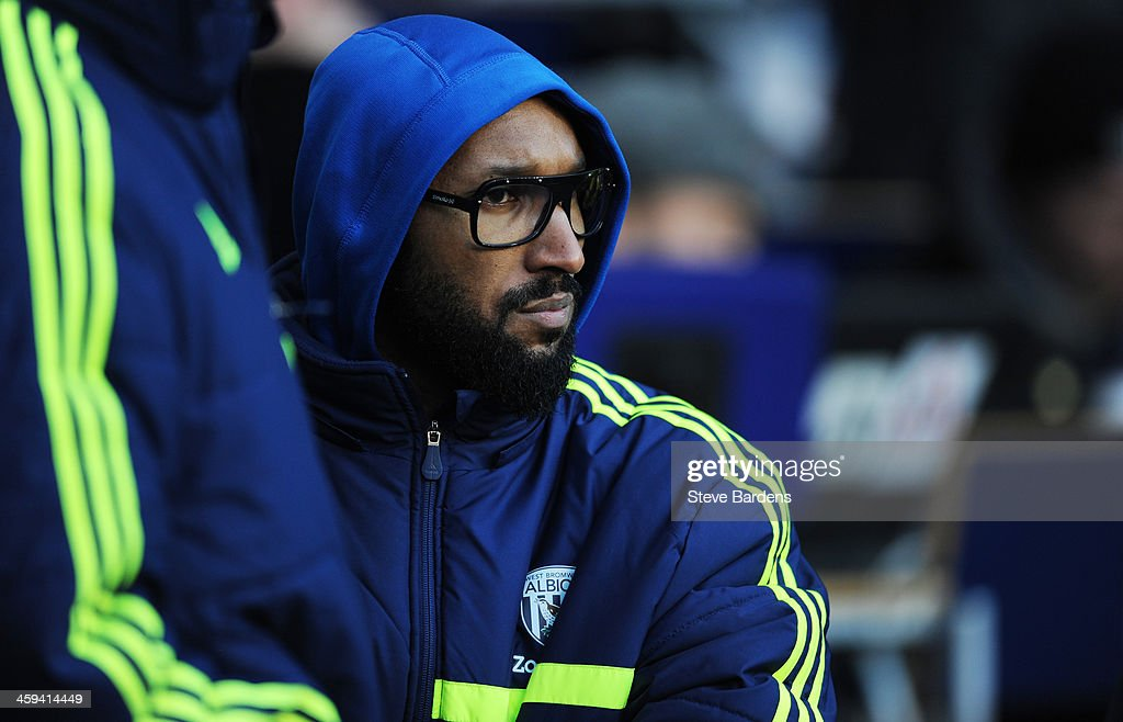 <a gi-track='captionPersonalityLinkClicked' href=/galleries/search?phrase=Nicolas+Anelka&family=editorial&specificpeople=206204 ng-click='$event.stopPropagation()'>Nicolas Anelka</a> of West Bromwich looks on from the sidelines during the Barclays Premier League match between Tottenham Hotspur and West Bromwich Albion on December 26 2013 in London, England.