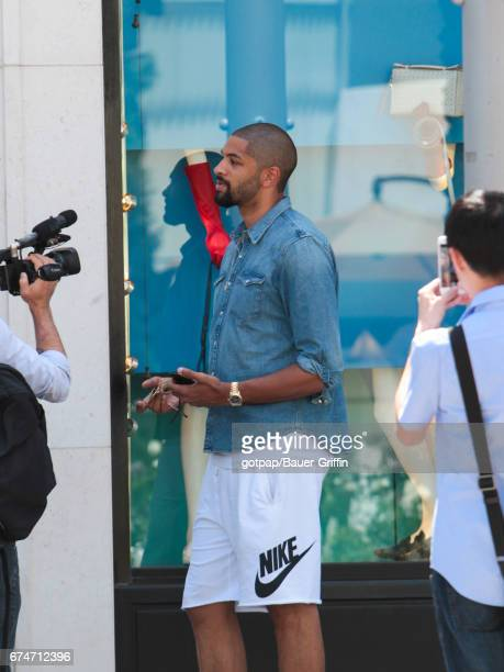 Nicolas Batum is seen on April 28 2017 in Los Angeles California