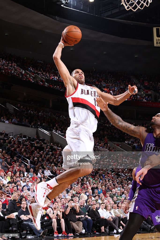 <a gi-track='captionPersonalityLinkClicked' href=/galleries/search?phrase=Nicolas+Batum&family=editorial&specificpeople=3746275 ng-click='$event.stopPropagation()'>Nicolas Batum</a> #88 of the Portland Trail Blazers drives to the basket against the Sacramento Kings on April 9, 2014 at the Moda Center Arena in Portland, Oregon.