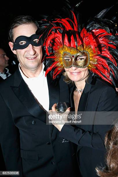 Nicolas Bazire and Fabienne Bazire attend the Christian Dior Haute Couture Spring Summer 2017 Bal Masque as part of Paris Fashion Week on January 23...