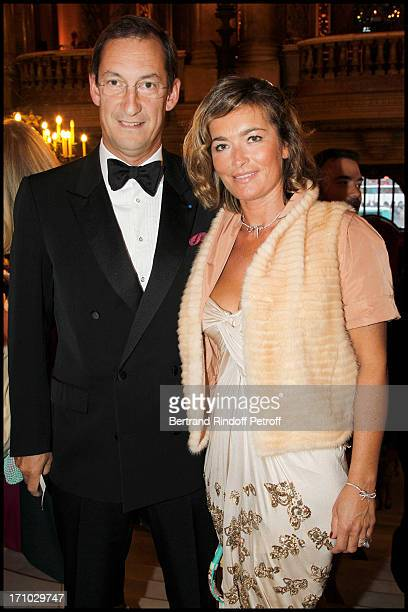 Nicolas Bazire and his wife Fabienne at Arop Gala 'Roland Petit' At Opera Garnier In Paris