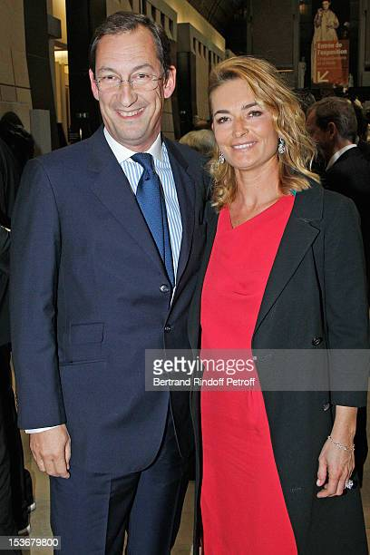 Nicolas Bazire and his wife Fabienne at Musee d'Orsay on October 8 2012 in Paris France