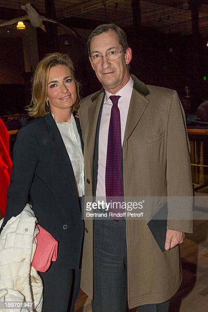 Nicolas Bazire and his wife Fabienne attend the Berluti Men Autumn / Winter 2013 presentation at the Great Gallery of Evolution in the National...
