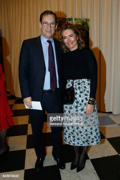 Nicolas Bazire and his wife Fabienne attend the celebration of the 10th Anniversary of the 'Fondation Prince Albert II De Monaco' at Salle Gaveau on...