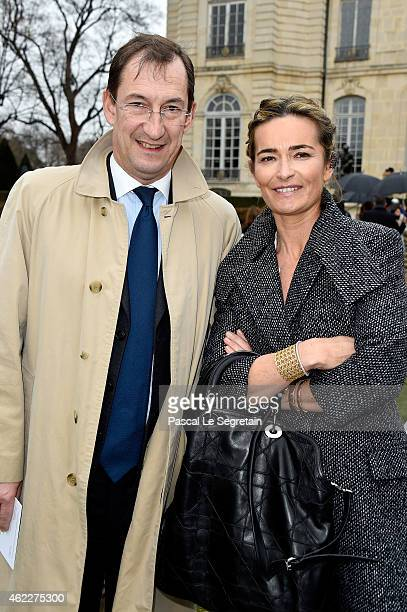 Nicolas Bazire and his wife Fabienne attend the Christian Dior show as part of Paris Fashion Week Haute Couture Spring/Summer 2015 on January 26 2015...