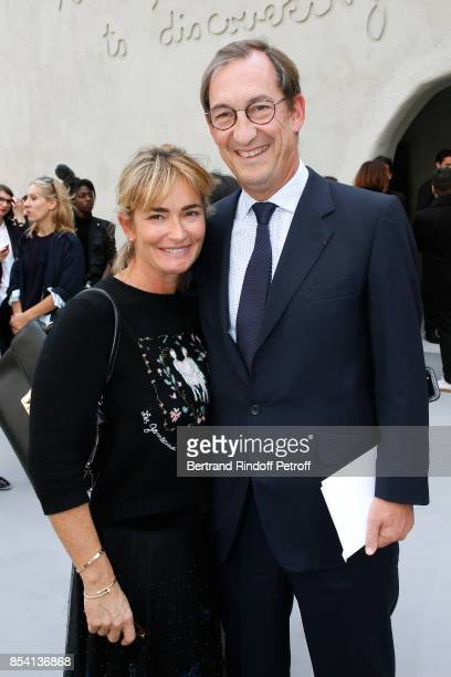 Nicolas Bazire and his wife Fabienne attend the Christian Dior show as part of the Paris Fashion Week Womenswear Spring/Summer 2018 on September 26...