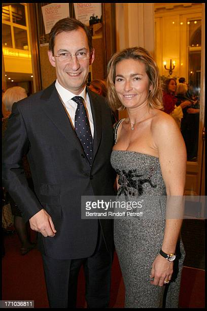 Nicolas Bazire and wife Fabienne at The Salle Gaveau Concert In Aid Of La Fondation Claude Pompidou